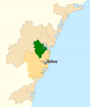 Division of Berowra - Division of Berowra in New South Wales, as of the 2016 federal election.