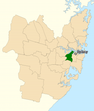Division of Grayndler - Division of Grayndler in New South Wales, as of the 2016 federal election.