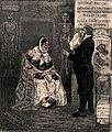 Doctor Cromm talks to a diseased prostitute; surrounded by macabre symbols of contemporary French politics Wellcome V0011801.jpg