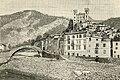 Dolceacqua ponte sul fiume Nervia e avanzi dell'antico castello.jpg