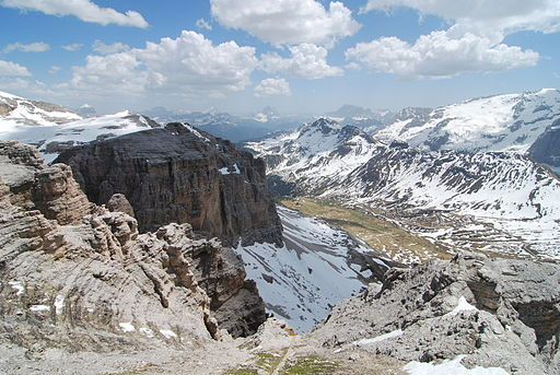 Dolomites cablecar view 2009
