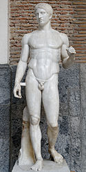 anonymous: Doryphoros from Pompeii