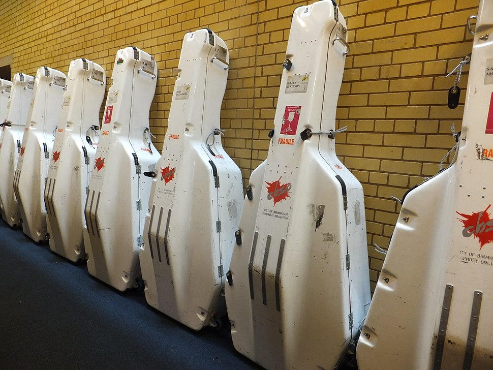 Double bass flight cases, CBSO, 2013-06-23