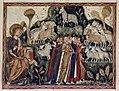 Douce Apocalypse - Bodleian Ms180 - p.053 Lamb adored on Mount Sion.jpg