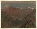 Drawing, Bavarian or Swiss alps by moonlight (CH 18200501).jpg
