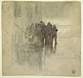 Drawing, Fishermen in Oilskins, Cullercoats, England, 1881 (CH 18174707-2).jpg