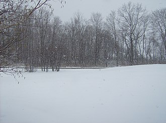 Global storm activity of 2007 - Parts of Pennsylvania, including countryside around Volant, received much snow on Good Friday and the following days.