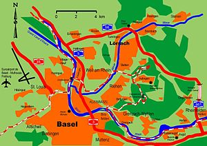 basel 3 in 1 city map 1 16 000 map travel information highlights sightseeing index city map 3 in 1