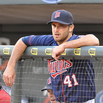 Drew Butera - Butera during his tenure with the Minnesota Twins in 2012