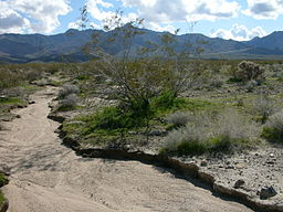 Dry river bed in California
