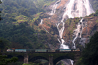 Goa - Dudhsagar Falls on the Goa-Karnataka border.