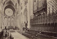 Durham Cathedral. Choir by James Valentine. c.1890.jpg