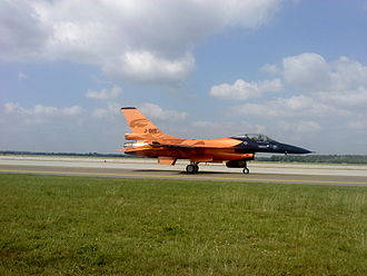 Kecskemét Air Show - Dutch F-16 rolling in front of the viewers after the display show