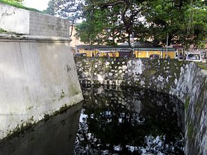 Star fort, Matara - The moat of the redoubt