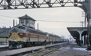 Lake Cities (train) - The Lake Cities in Marion, Ohio in 1969