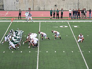 2010 Eastern Michigan Eagles football team - Central Michigan lined up for one of their seven converts against EMU.