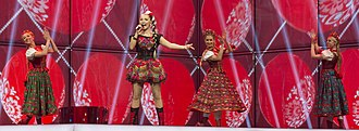 Poland in the Eurovision Song Contest 2014 - Cleo at the second semi-final dress rehearsal