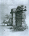 East Gate Birdoswald newly uncovered J. Storey 1855.png