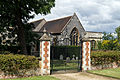 East gate St Etheldredas from east Hatfield House Hertfordshire England.jpg
