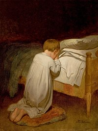 Eastman Johnson, Child at Prayer, circa 1873.jpg