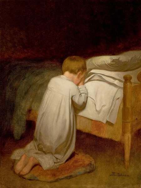 File:Eastman Johnson, Child at Prayer, circa 1873.jpg
