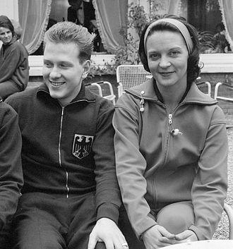 Diane Rowe - Eberhard Schöler and Diane Rowe in 1962