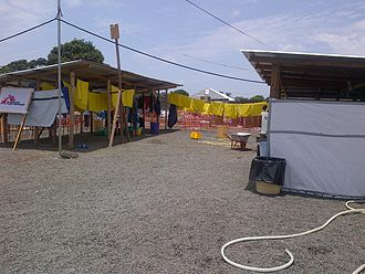 West African Ebola virus epidemic - An Ebola treatment unit in Liberia