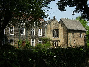 Ecclesfield Priory - Ecclesfield Priory, seen from the south.  Ecclesfield Hall adjoins, to the left of the picture.