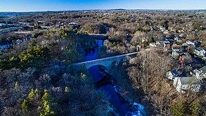 Echo Bridge - Aerial Photo of Echo Bridge in Newton, MA