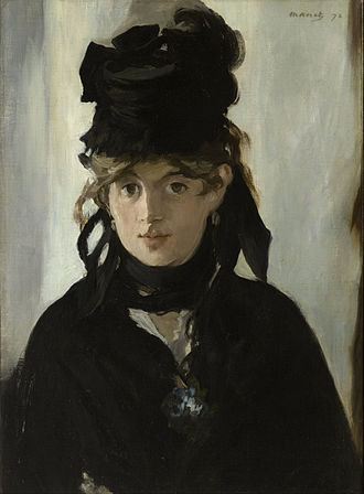 Berthe Morisot - Édouard Manet, Berthe Morisot with a Bouquet of Violets (in mourning for her father), 1872, Musée d'Orsay