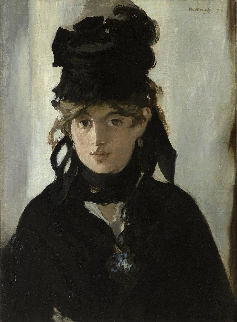 Edouard Manet - Berthe Morisot With a Bouquet of Violets - Google Art Project