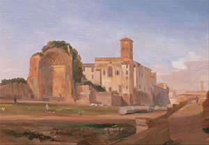 Edward Lear - Temple of Venus, Rome