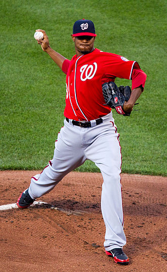 Edwin Jackson - Jackson with the Washington Nationals in 2012
