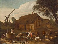 Egbert van der Poel - In a Farmyard.jpg