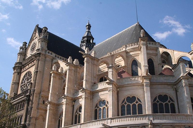 Naissance de l 39 art gothique for Architecte st eustache