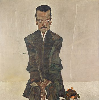Portrait of Eduard Kosmack by Egon Schiele