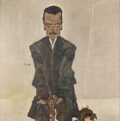 Lukisan penerbit Eduard Kosmack karya Egon Schiele, seorang seniman berlanggam ekspresionisme dari Austria