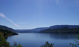 Eikefjord - View of the Eikefjorden