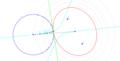 Elipse de focos dados y tangente a una circunferencia.png