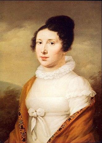 Elisabeth Röckel - Portrait of Elisabeth Röckel  by Joseph Willibrord Mähler, Düsseldorf, Goethe-Museum