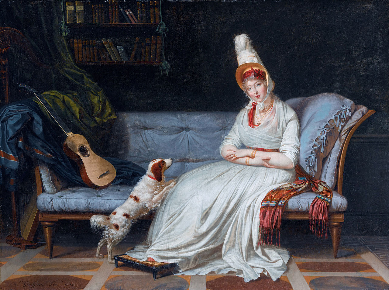 File elizabeth lady webster later lady holland by louis for Chaise longue wiki