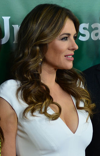 Elizabeth Hurley - Hurley at the 2015 Television Critics Association's Press Tour in January 2015
