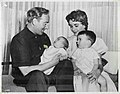 Elizabeth Taylor and Michael Wilding with their children Christopher Edward Wilding and Michael Wilding, Jr., 1956.jpg
