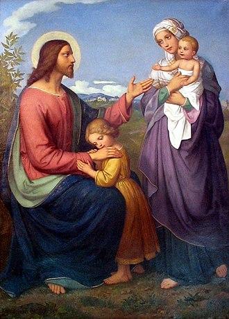 Marie Ellenrieder - Image: Ellenrieder Jesus als Kinderfreund 1845