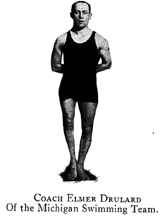 Michigan Wolverines swimming and diving - Coach Drulard founded the Michigan swim team in 1920