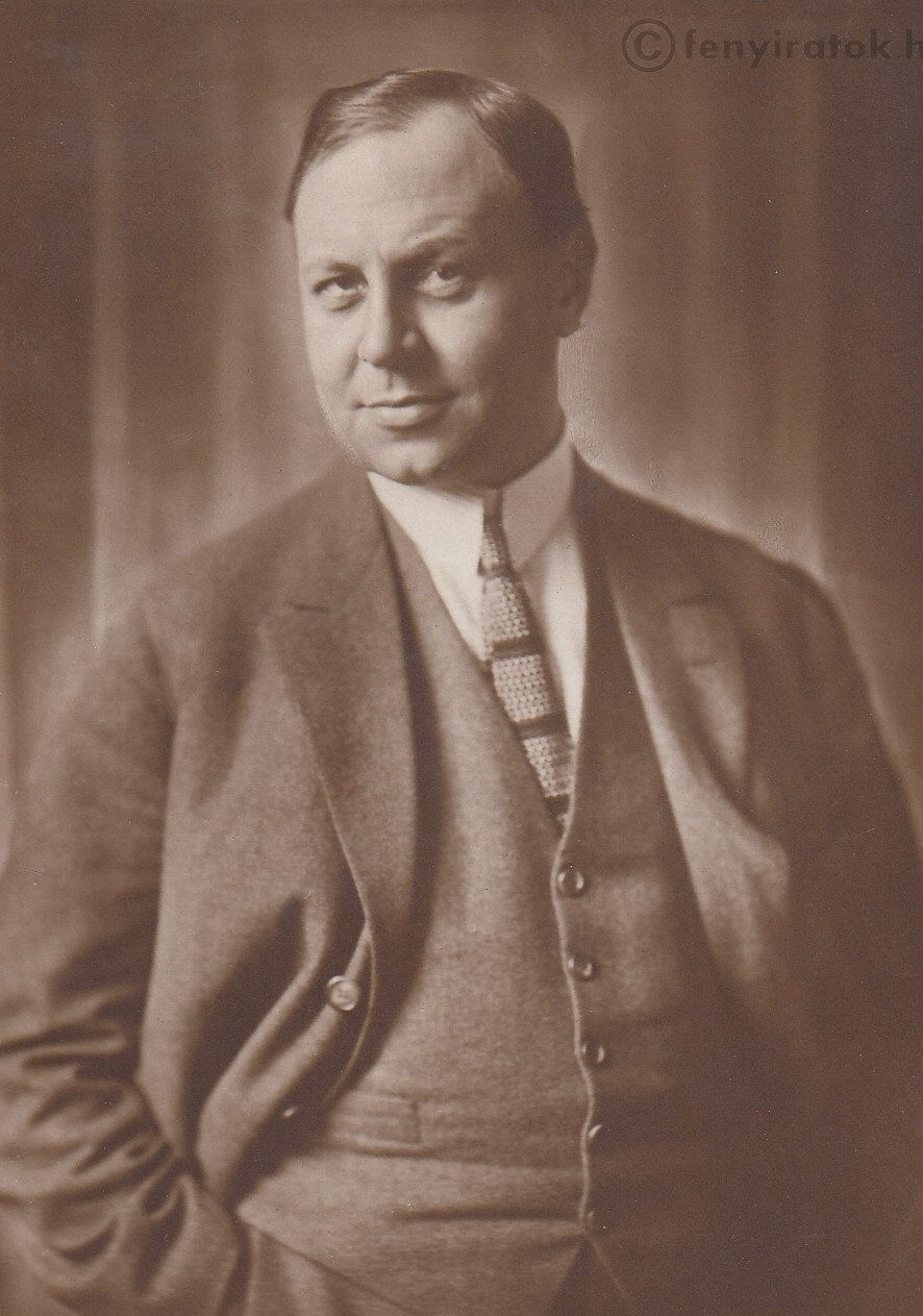 Black and white portrait of Emil Jannings—a corpulent white man of middle-age with short hair brushed to one side, wearing a sophisticated suit in 1926.