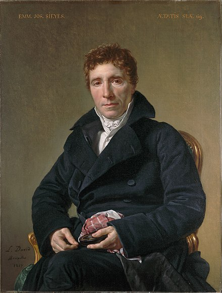 The Abbe Sieyes, president of the Senat conservateur 1799-1801. Emmanuel Joseph Sieyes, by Jacques Louis David.jpg