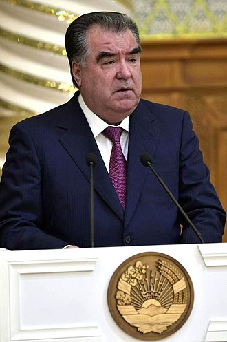 Emomali Rahmon - Emomali Rahmon at the Palace of Nations in  2017