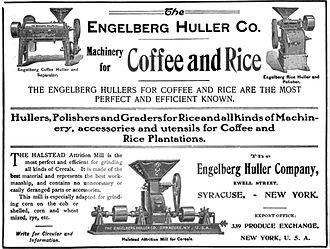 Engelberg Huller Company - A 1904 advertisement for the Engelberg Huller Company, Syracuse, New York