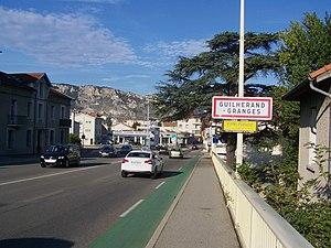 Guilherand-Granges - The road into Guilherand-Granges